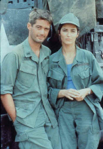 Tour of Duty's Lt. Myron Goldman (Stephen Caffrey) & Alex Devlin (Kim Delaney)